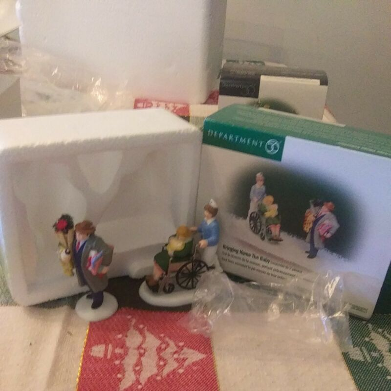 Dept. 56 Heritage Christmas Village - Bringing Home the Baby 58909. New