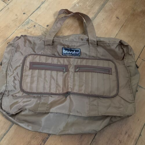 Vintage Traveler Nylon Carry On Duffel - Packable Travel Bag - $24.99