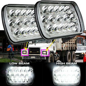 For Mack RD CH SFA MS300P CH600 CS200P LED Headlight Sealed Beam H6054/6054 7X6