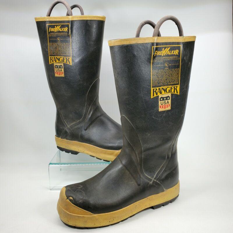 Ranger FireWalker Boots Firefighter Turnout Gear Rubber Steel Toe Size 12M USA