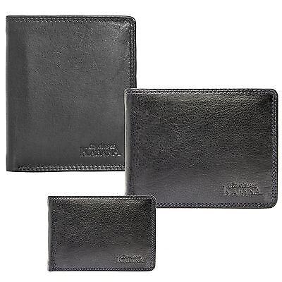 Herren Schwarz Leder Brieftasche (Herren Leder Geldbörse Geldbeutel Brieftasche echtLeder Groß und klein Männer)