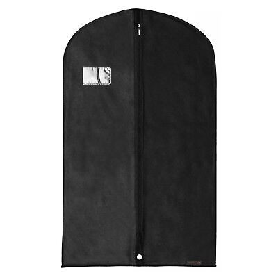 "Hangerworld™ 40"" Black Breathable Suit Covers Garment Clothes Protector Bag"