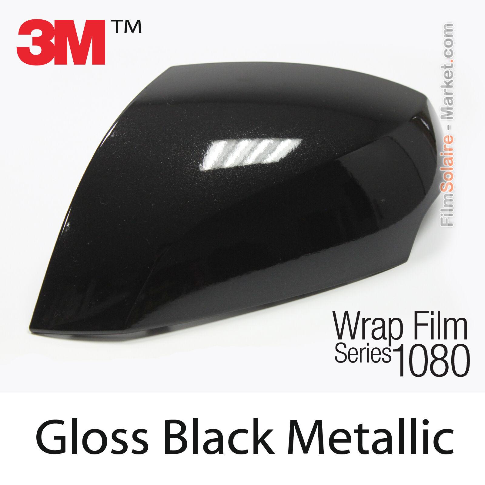 3M 1080 Series GLOSS BLACK METALLIC Vinyl Vehicle Car Wrap Decal Film Roll G212