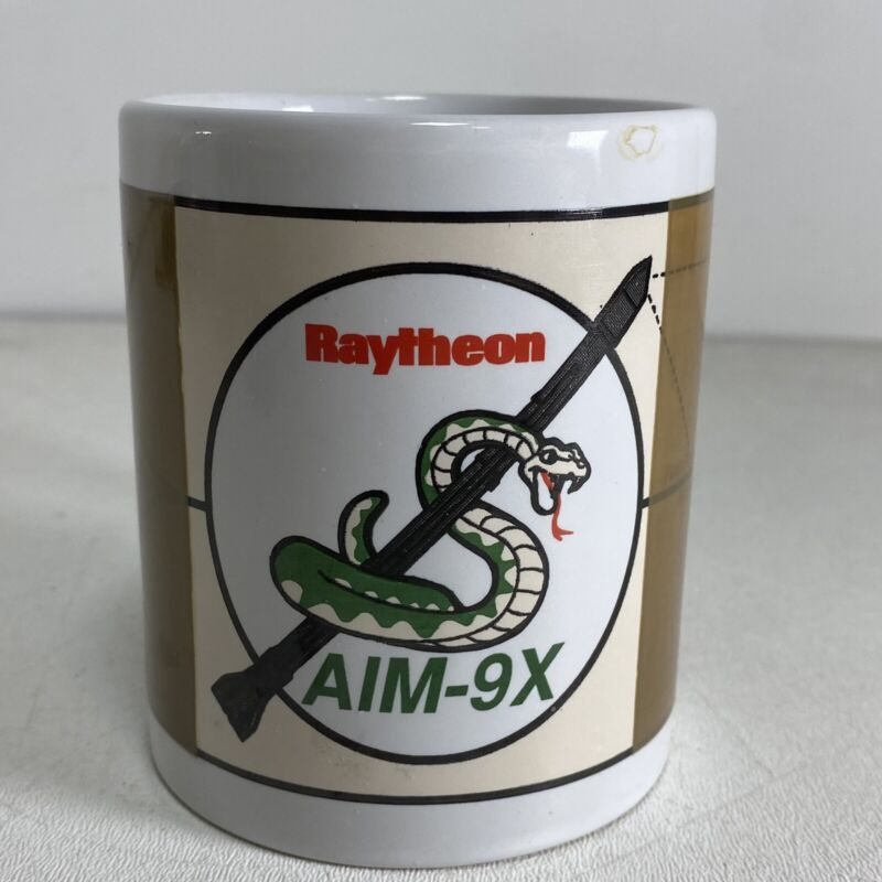 Vintage Raytheon AIM-9X Sidewinder Missile Coffee Mug Military Weapons