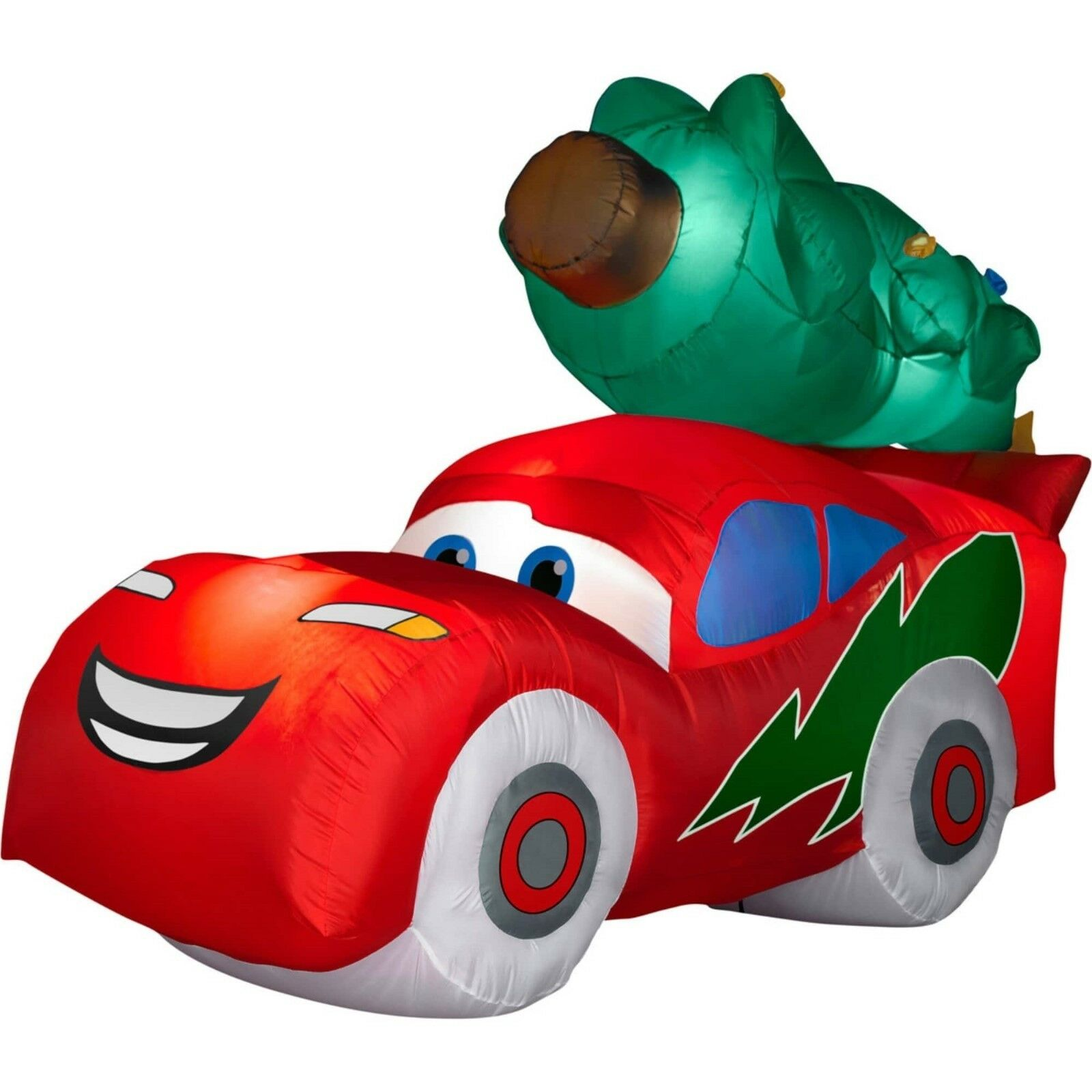 Lighting Mcqueen Car Christmas Tree Holiday Airblown Inflatable
