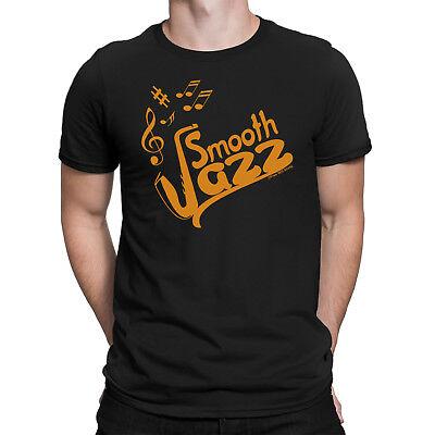 SMOOTH JAZZ Mens T-Shirt Music Piano Trumpet Guitar Drums Ba