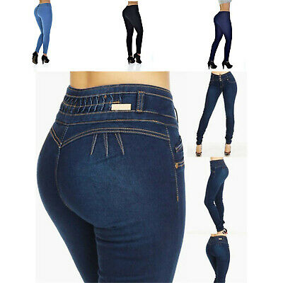 Plus Size Stretch Skinny Low Waist Jeans Denim Pants Butt Lifting Trousers Women ()