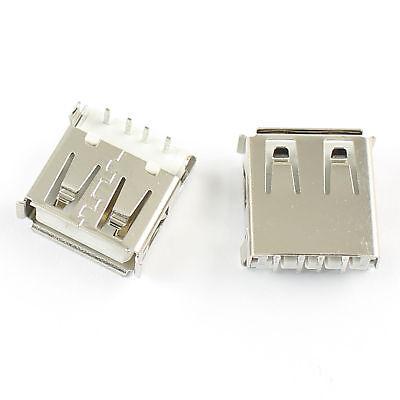 10pcs Usb 2.0 Type A 4 Pin Female Panel Mount Socket Connector Diy