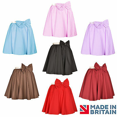 Grease Dance Kostüme (BOW CIRCLE SKIRT ADULT 50s ROCK N ROLL FANCY DRESS, DANCE, GREASE, MANY COLOURS)