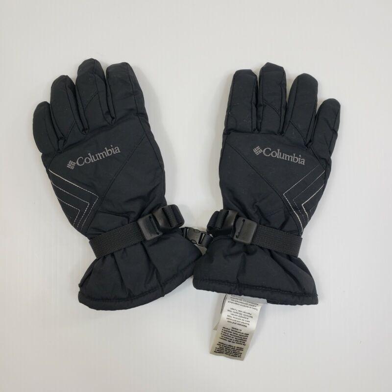 Columbia Girls Black Winter Snow Ski Mittens Gloves Omni-Heat Youth L Large