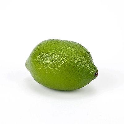 "Artificial Lime Box of 12 Limes Decorative Fake Citrus Fruit Faux 3.25"" Lime"