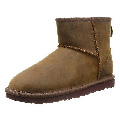 UGG scarpe MINI CLASSIC LEATHER CHESTNUT stivaletti donna