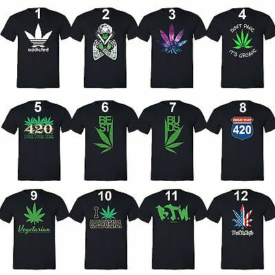 Best Buds Couples Matching T Shirts Weed Stoner Pot Leaf Marijuana Kush Shirts