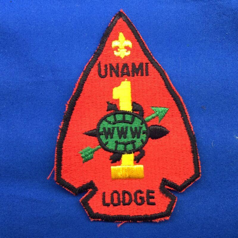 Boy Scout OA Unami Lodge 1 Arrowhead Order Of The Arrow Patch WWW