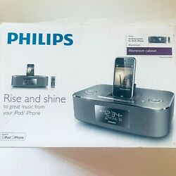 Philips Dock System DC290B iPod/iPhone Alarm Clock Speaker/Radio/MP3 No Manual