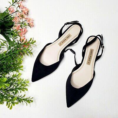 NWT Zara Size 6 Slingback D'Orsay Ballet Flats Ref 2578/301