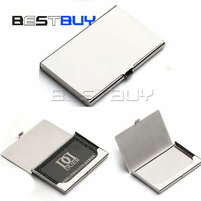 Business Name Credit Id Card Holder Box Metal Stainless Steel Pocket Box Bbc