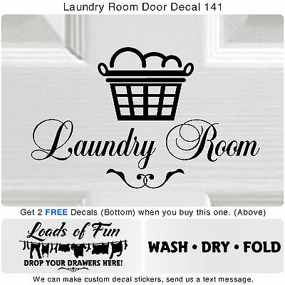 Laundry Room Wash Dry Fold Door Wall Vinyl Quote Sticker Decor Art Decal S141](Door Decorate)