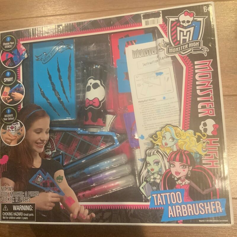 Rare Monster High Tattoo Airbrusher Dress Up & Pretend Play New Rare Vtg