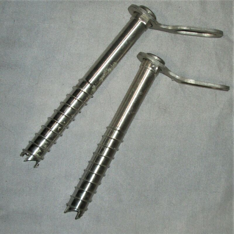 2 Titanium Ice Screws - 15 & 16cm climbing anchors, screw