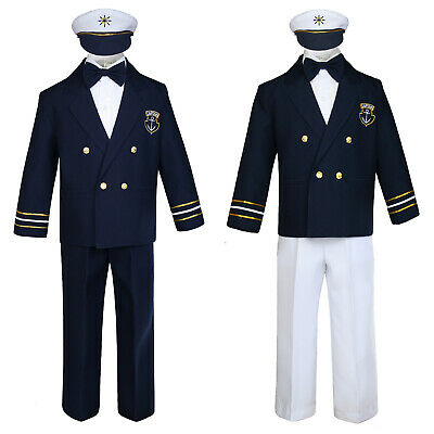 Hermosa New Navy Sailor Outfit Captain Costume for Babies Toddler Boy Cruise - Sailor Outfit For Toddler Boy