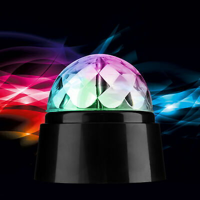 360° Rotating Disco Light DJ Party Crystal Ball Effect Xmas Birthday NewYear RGB