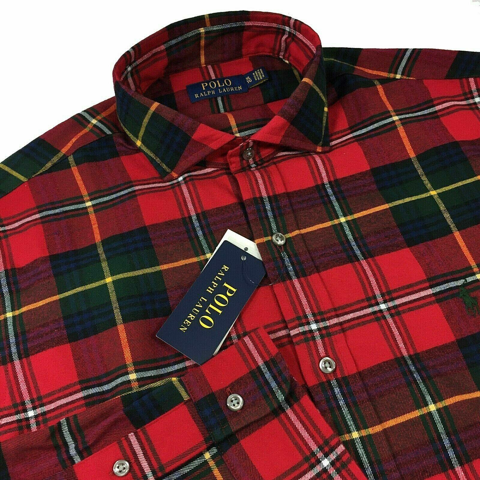 mens super soft flannel shirt red green