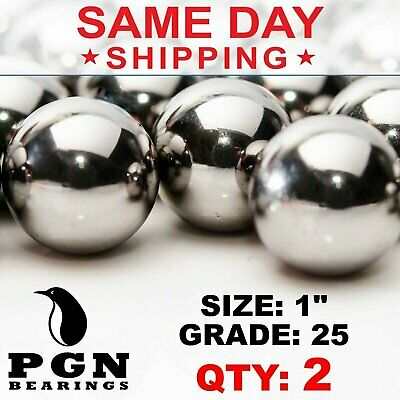 1 Inch Aisi 440 Stainless Steel Bearing Ball G25 Precision - 2 Pcs