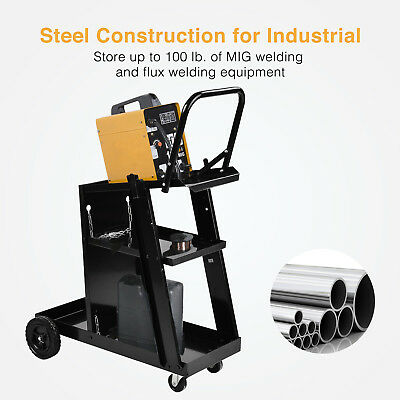Welder Welding Cart Universal Storage For Tanks Plasma Cutter Mig Tig Arc