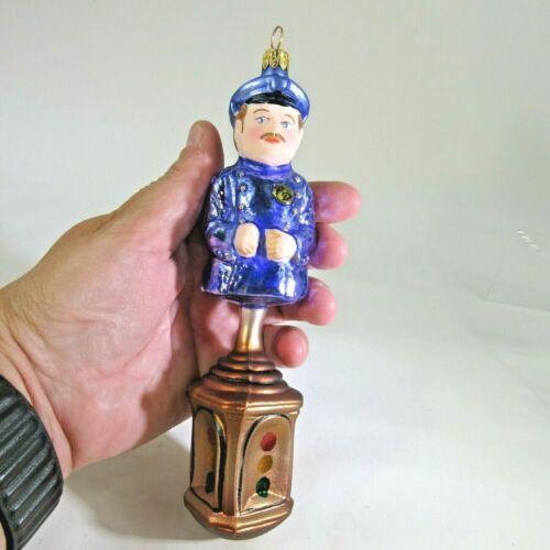 "BIG 7"" 1995 Christopher MAIN STREET AL policeman  X-mas Ornament #95-061-0 matte"