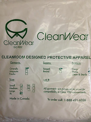 Cleanwear Clean-room Disposable Protective Coveralls Sterile Extra Large