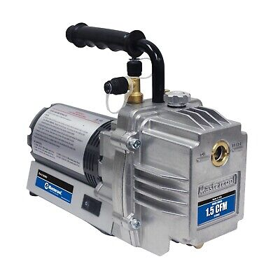 Mastercool 90060 Ac Vacuum Pump 1.5 Cfm 16 Hp 3450 Rpm Two Stage Made In Usa