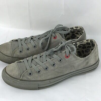 Converse (Product) Red All Star Gray Suede Sneakers Shoes Mens Sz 8 - Converse Merchandise