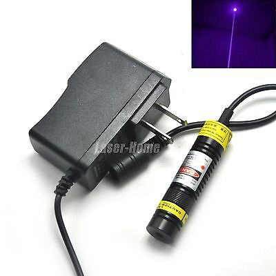 405nm 100mw Blueviolet Focusable Dot Laser Diode Module 16x68mm W5v Adapter