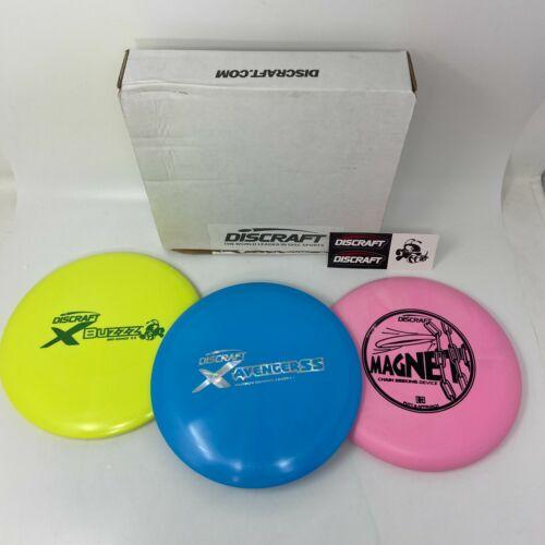 🔴 Discraft Beginner Disc Golf Set 3-Pack AvengerSS Buzzz Magnet Pink Green Blue