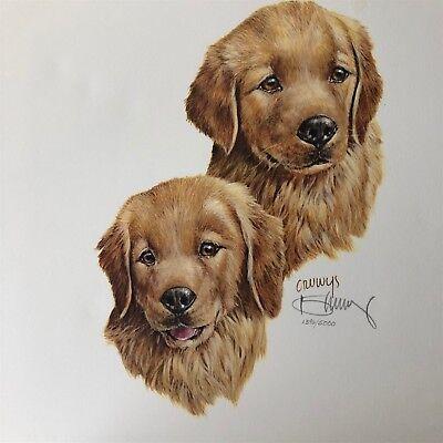 "Chesapeake with Duck 11/""x14/"" Dog Print Roger Cruwys"