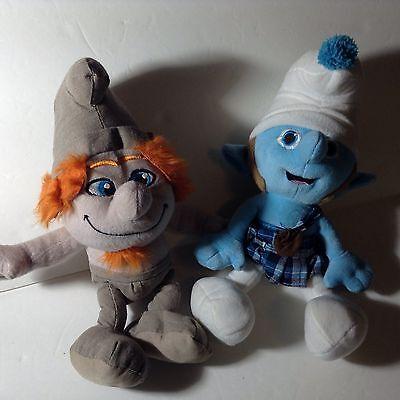 "Smurf Plush Hackus & Scottish Kilt 14"" Kelly Toy Lot of 2 One Has Tags Movie"