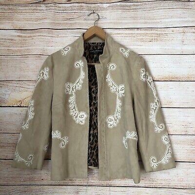 Dolce and Gabbana Tan Goatskin Jacket. Size 46/10 Large