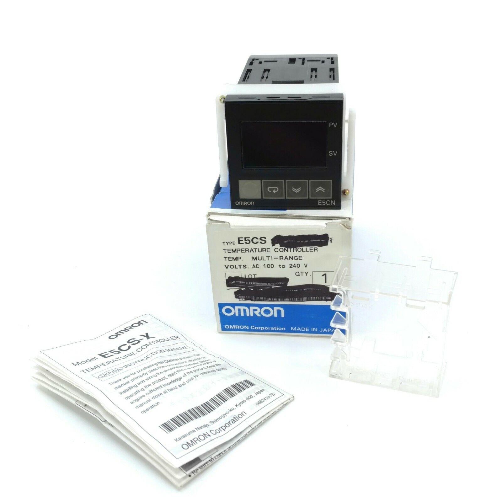 New IN BOX Omron Temperature Controller E5CS-Q1KJX 1 year warranty