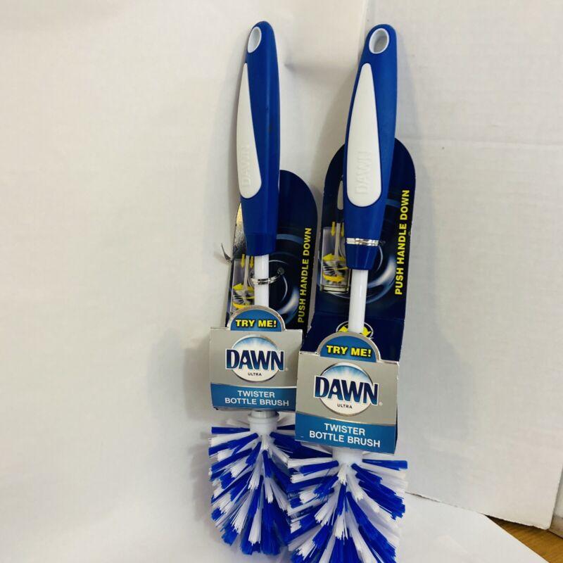 Dawn Twister Bottle Brush Clean Baby Bottles Glasses - Lot of 2