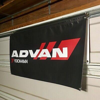Advan Yokohama Banner JDM AE86 EK9 DC5 SW20 S13 S14 Silvia 2JZ SR20 4AG Evo STI