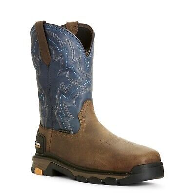 Ariat® Men's Intrepid Force Blue Composite Toe Work Boots 10027322 Composite Work Boots