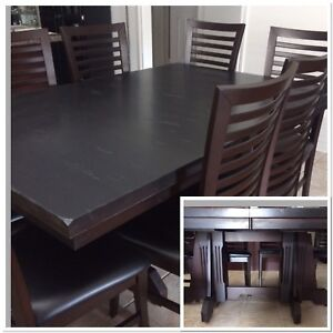 Rustic Black Solid Maple Table
