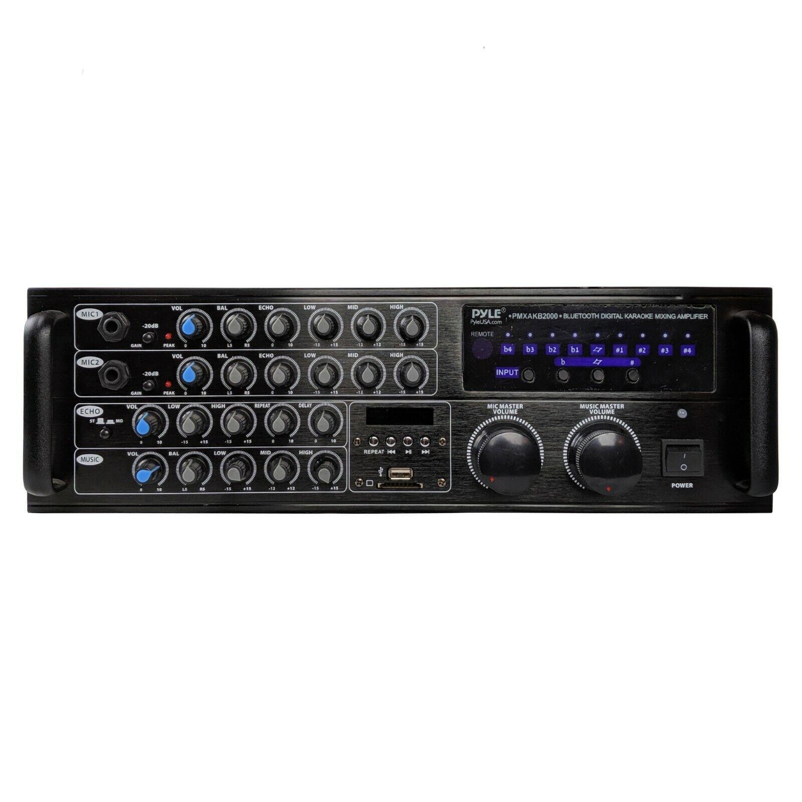 Pyle PMXAKB2000 - 2000 Watts  DJ Karaoke Mixer and Amplifier