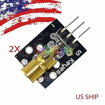 2pcs 2x Ky008 Laser Transmitter Module For Arduino Avr Pic Fast Us Ship