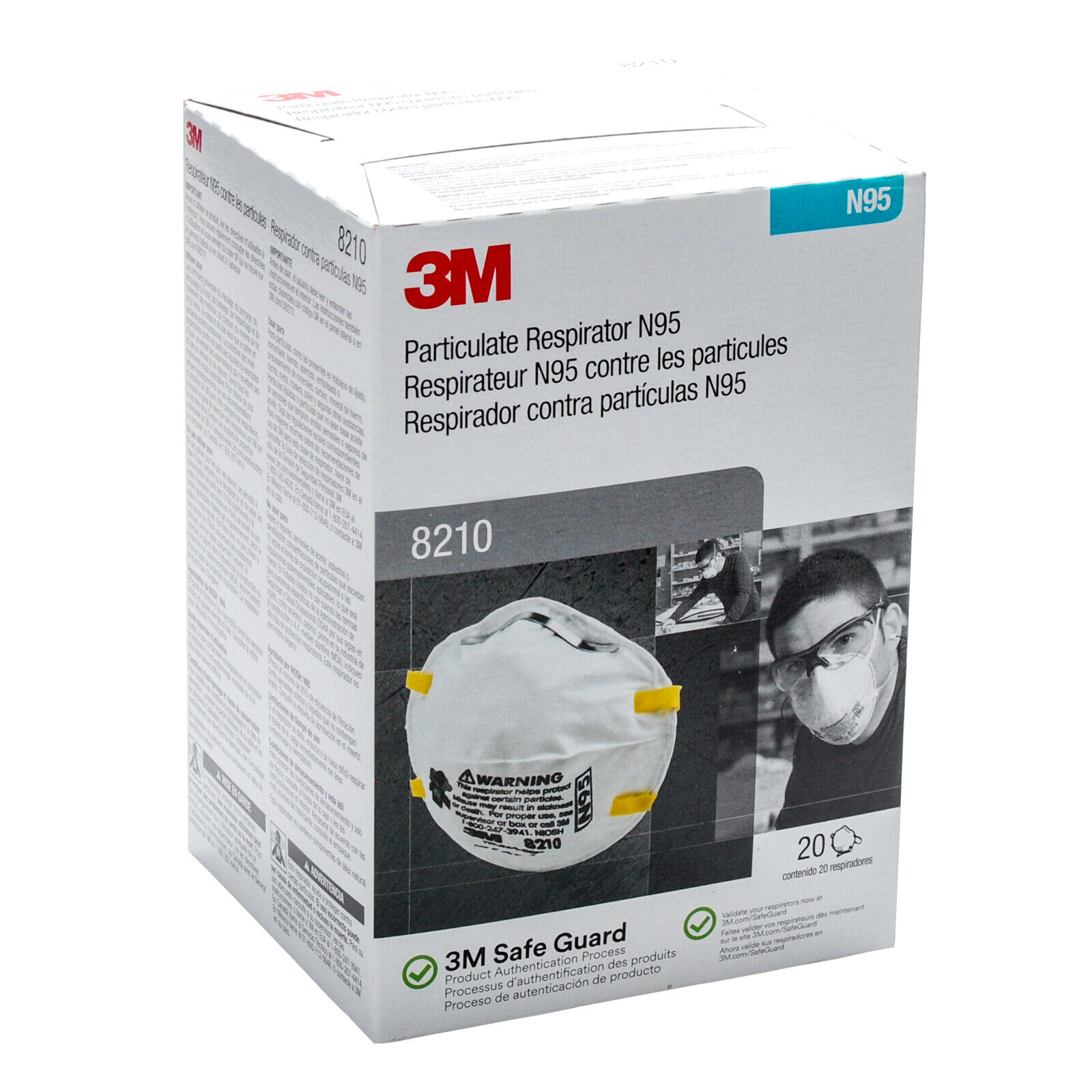 3M8210 Particulat Respiratoor N95, 1- Box of 20, EXP. Date 04/2026 Auto Paints & Supplies