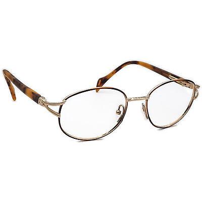 Gucci Women's Eyeglasses Vintage Tortoise/Gold Oval Frame 53[]18 130
