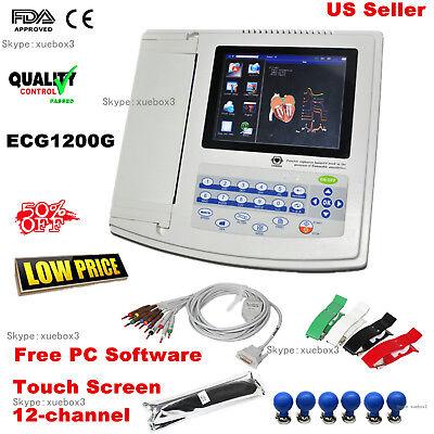 Contec 12 Channel Ecg Machine Electrocardiograph 12 Leads Ecg1200g Pc Software