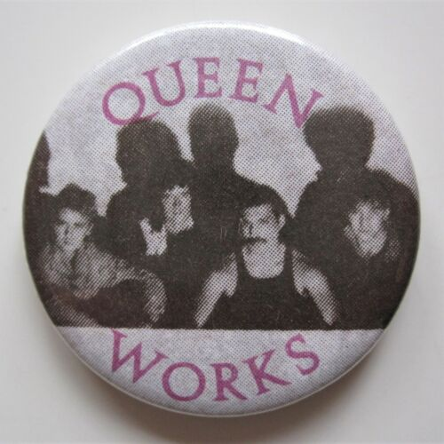 Queen : Original The Works 1984 Vintage Metal Pin Badge