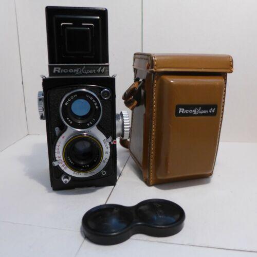 Ricoh Super 44 127 Film TLR Camera EXC Riken 6cm. F3.5 Lens Leather Camera Case